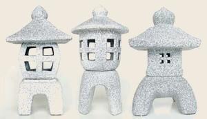 Japonské lampy - tři druhy střední